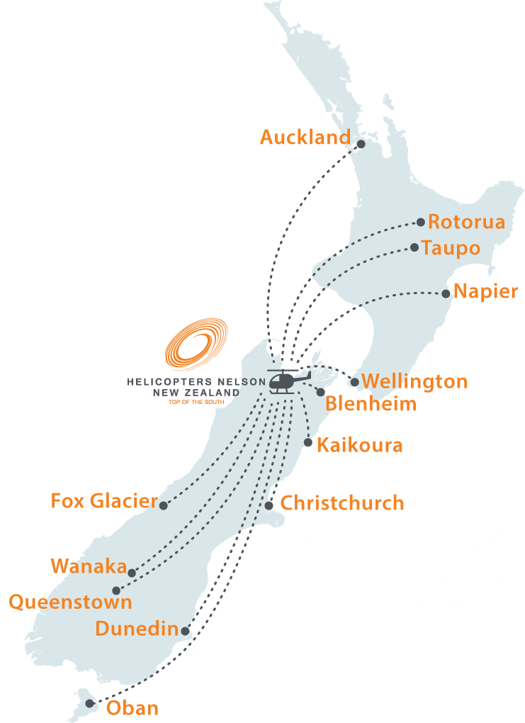 Heilcopters NZ charter map